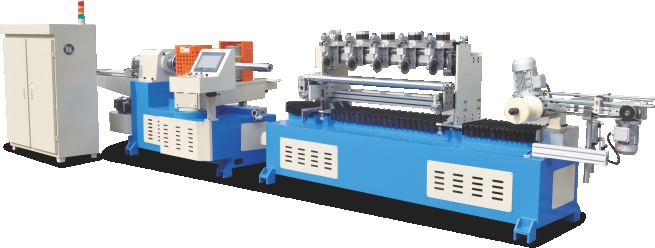 JS-PTE2-120M Automatic Spiral Type Paper Tube Machine with Multi Knife in line